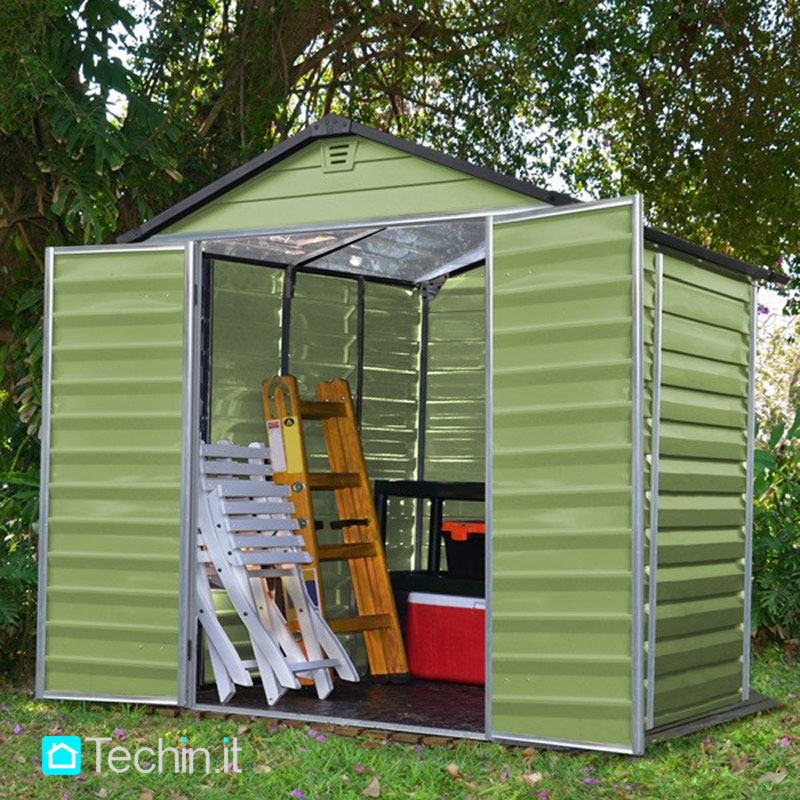 Arredo giardino pergole tettoie carport tettoie pensiline - Casette da giardino in pvc ...