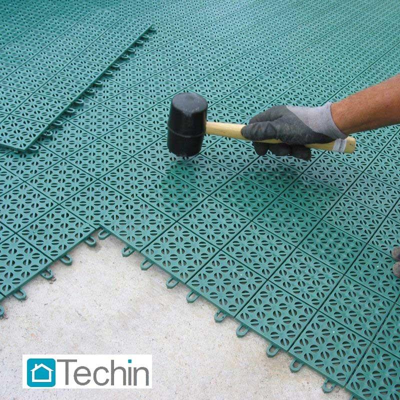 mattonelle plastica, pavimenti da giardino, galleggiante, laminato