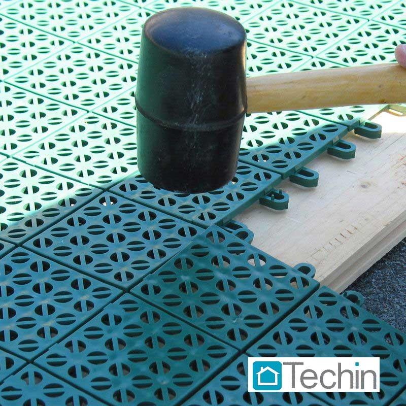 Mattonelle plastica pavimenti da giardino galleggiante for Materiale per mattonelle
