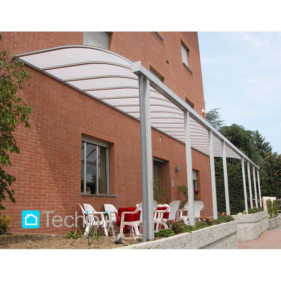pensiline alluminio Mod. MILANO pensiline alluminio misura,copertura plexiglass, pensilina ...