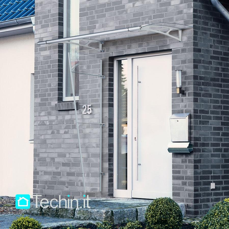 Tettoia inox mod light std tettoia ingressi pensilina plexiglass pensilina ingresso inox - Tettoia per porta ingresso ...
