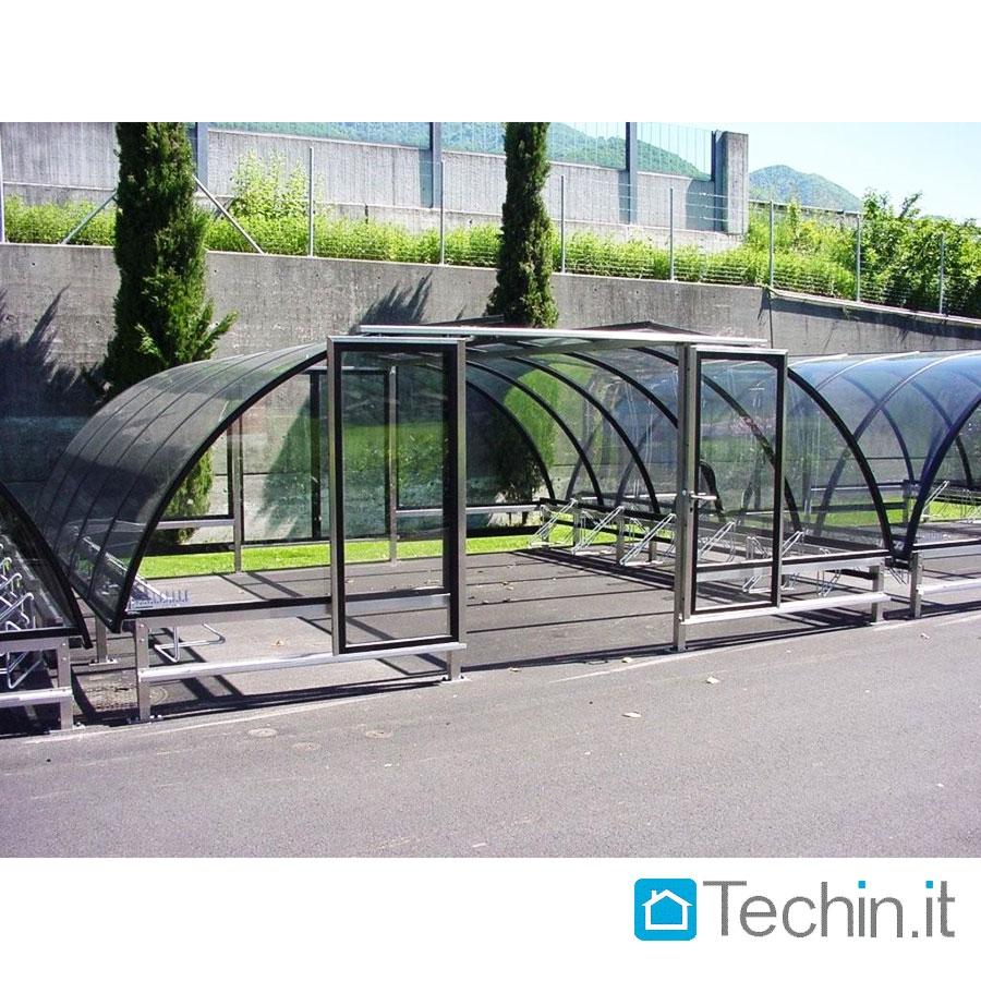 Aluminum Motorcycle Shelter : Bicipark shed plexiglass canopy bike motorcycle