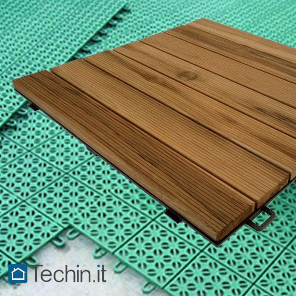 Pavimenti per interno esterno drenanti in gres plastica legno - Piastrelle di plastica ...