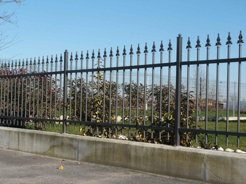 Cancelli in ferro recinzioni recinzione cancello ferro battuto for Pannelli recinzione giardino