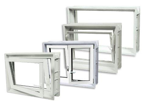 Finestre da cantina finestre a cassero finestre in pvc per cantina - Montaggio finestre pvc senza controtelaio ...