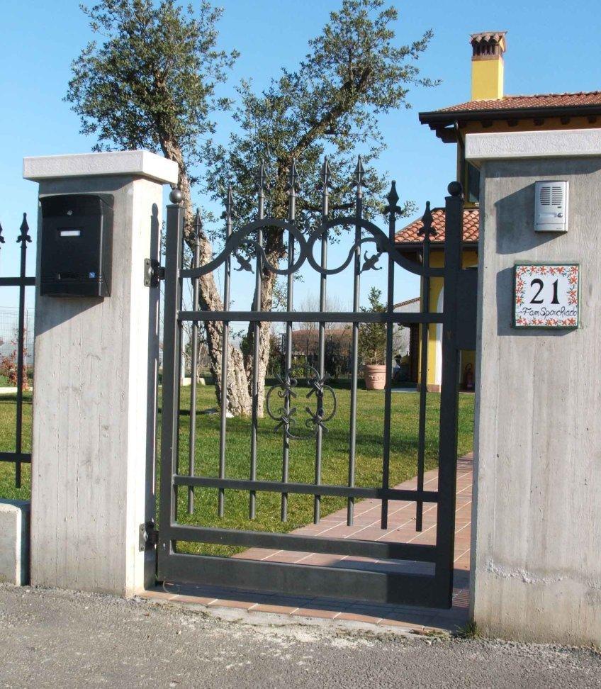 Très cancelli in ferro,recinzioni,recinzione,cancello,ferro battuto QK69